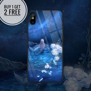 Accessories - Mermaid Tempered Glass iPhone Phone Case